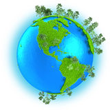Americas on planet Earth Royalty Free Stock Image