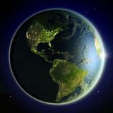Americas from space Royalty Free Stock Photography