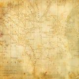 americas tła mapa stara Zdjęcia Stock