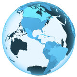 Americas on translucent Earth Royalty Free Stock Photos