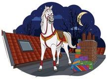 Amerigo, das Pferd von Sinterklaas Stockbild
