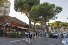 Amerigo Vespucci Avenue à Rimini, Italie Images stock