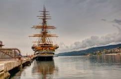 Amerigo Vespucci es una nave alta de la marina de guerra de Italia Fotos de archivo libres de regalías
