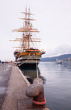 Amerigo Vespucci es una nave alta de la marina de guerra de Italia Imagen de archivo libre de regalías
