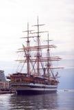 Amerigo Vespucci es una nave alta de la marina de guerra de Italia Imagenes de archivo