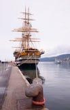 Amerigo Vespucci est un bateau grand de marine de l'Italie Image libre de droits