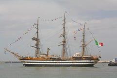 Amerigo Vespucci, Italian training ship. Royalty Free Stock Photography