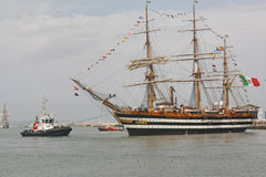 Amerigo Vespucci, Italian training ship. Stock Photography