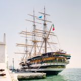 The `Amerigo Vespucci` ship of the Italian Navy Stock Images