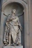 Amerigo Vespucci Statue dans la galerie d'Uffizi, Florence, Toscane, Italie Image libre de droits