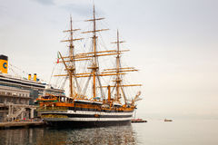 Amerigo Vespucci is a tall ship of Italy navy Royalty Free Stock Image