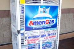 Amerigras-Propan-Austauschkäfig stockbilder