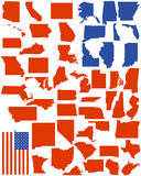 Amerika anger vektorn Arkivfoto