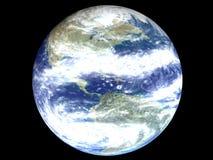 Amerika auf einer Erdekugel Lizenzfreie Stockbilder