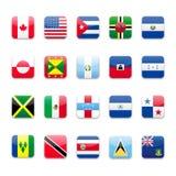 Amerika b flagga royaltyfri illustrationer