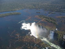Amerika cataratas gör igua södra u Royaltyfri Bild