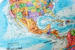 Amerika central Arkivbild