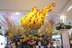 Amerika de mooie decoratie van de themabloem tijdens de Jaarlijkse Bloem van beroemde Macy toont royalty-vrije stock foto's