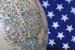 Amerika en de wereld Stock Foto