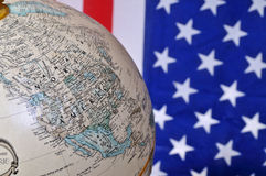 Amerika en de wereld Stock Fotografie