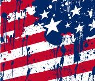 Amerika för abstrakt begreppfärgstänkbakgrund flagga royaltyfri illustrationer