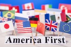 Amerika först Fotografering för Bildbyråer
