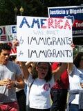 Amerika für Immigranten Stockfoto