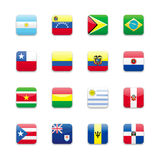 Amerika flagga vektor illustrationer