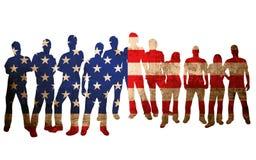 Amerika flagganational Arkivfoto