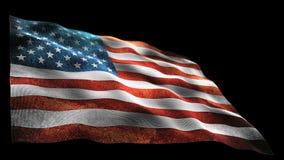 Amerika-Flagge stock video