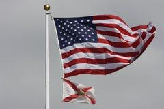 Amerika flaggor Fotografering för Bildbyråer