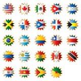 Amerika flaggor formade stjärnan Royaltyfri Bild