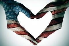 Amerika i hjärtan Arkivbilder