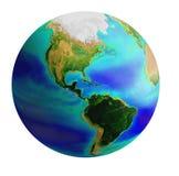 Amerika jordklot Arkivfoto