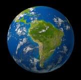 Amerika jordplanet som söder visar Royaltyfria Foton
