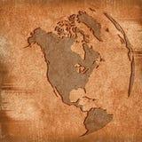 Amerika-Karte Lizenzfreie Stockbilder