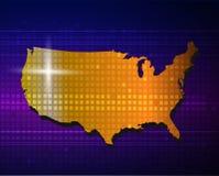 Amerika-Karte Lizenzfreie Abbildung