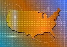 Amerika-Karte Lizenzfreies Stockfoto