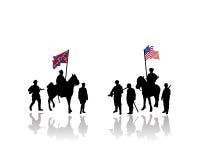Amerika kriger den borgerliga illustrationen Royaltyfria Bilder