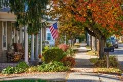 Amerika liten stad Royaltyfri Fotografi