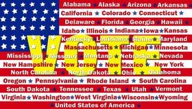 Amerika röstar royaltyfri illustrationer