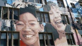 Amerika - San Francisco - Glass trappuppgång arkivfoton