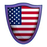 Amerika-Schildikone, realistische Art lizenzfreie abbildung