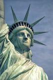 Amerika-standbeeld van vrijheid-vrijheid eiland stock afbeelding
