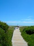 Amerika strand carolina som är södra till walkwayen arkivfoto