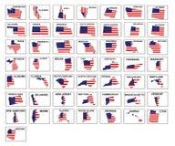 Amerika tillstånd Arkivfoto