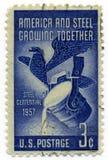Amerika-und Stahl-Weinlesestempel 1957 Lizenzfreies Stockbild