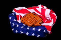 Amerika unterstützt Baseball Lizenzfreie Stockbilder