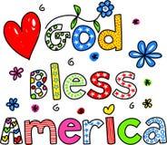 Amerika välsignar guden vektor illustrationer