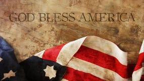 Amerika välsignar guden flagga Royaltyfria Foton